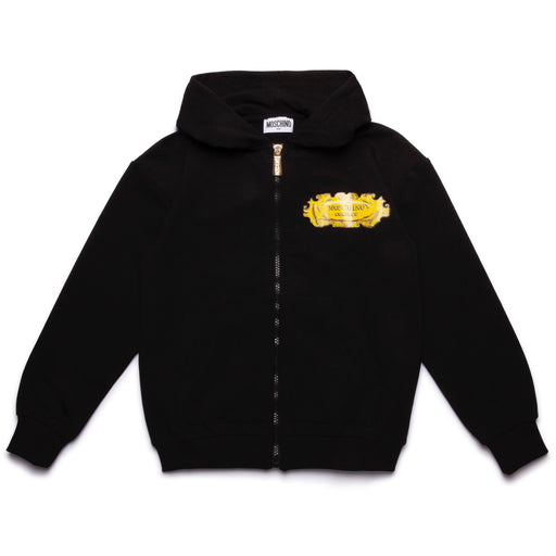 Moschino - Boys Black Baroque Print Hoodie - Kids clothing at BOYS & GIRLS ONLINE