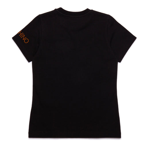 Moschino Boys Black Cotton T-Shirt - Kids clothes online | BOYS & GIRLS ONLINE