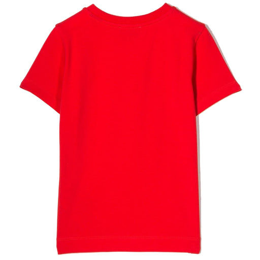 Moschino - Boys Red Cotton Logo Roma T-Shirt - Kids clothing at BOYS & GIRLS ONLINE