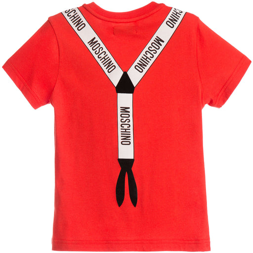 Moschino - Boys Red Cotton T-Shirt - Kids clothing at BOYS & GIRLS ONLINE