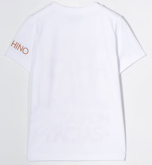 Moschino - Boys White Cotton T-Shirt - Kids clothing at BOYS & GIRLS ONLINE
