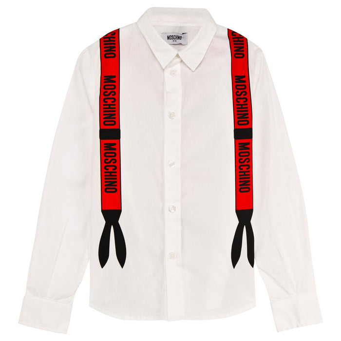 MOSCHINO Off White Moschino Braces Shirt at BOYS & GIRLS ONLINE