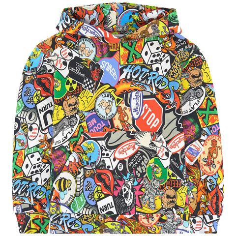 MOSCHINO - Mini Me Printed Biker Hoodie - Sweatshirts Boy at BOYS & GIRLS ONLINE