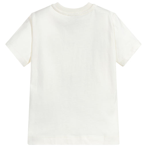 Moschino Optic White Cotton Maxi T-Shirt - Kids clothes online | BOYS & GIRLS ONLINE