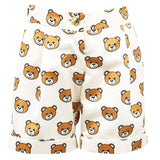 MOSCHINO - Teddy Bear Ivory Satin Shorts - Shorts Girl at BOYS & GIRLS ONLINE