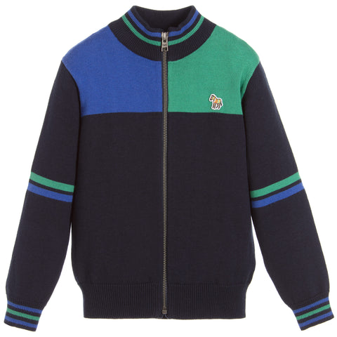 Boys Knitted PAXTON Zip-Up Top