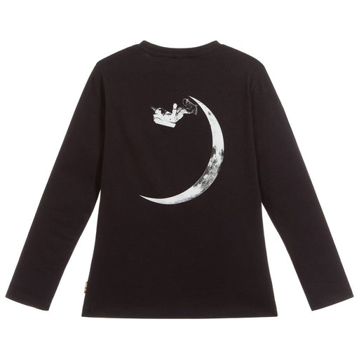 Boys Black Cotton Jersey Top
