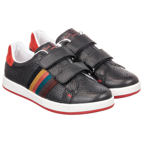 Black Double Velcro RABBIT STRAP Trainers