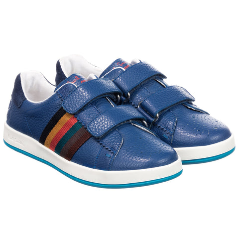 Blue Double Velcro RABBIT STRAP Trainers