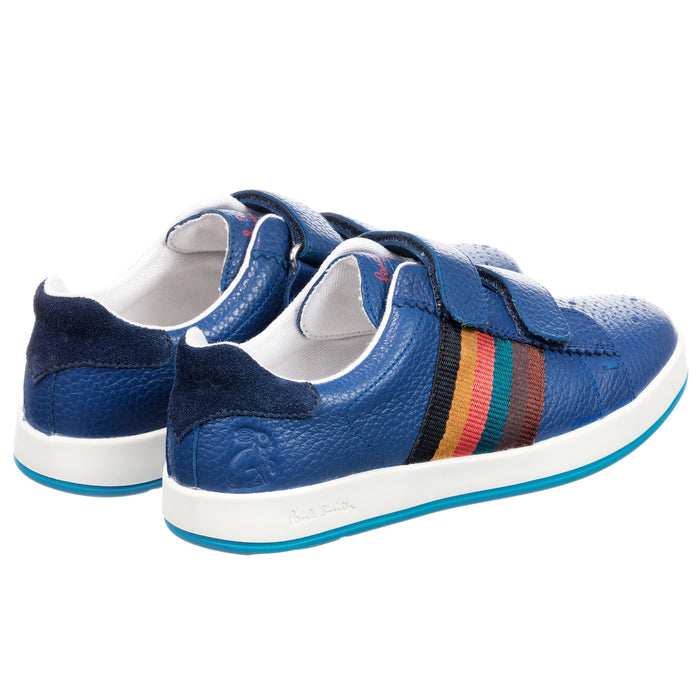 Paul Smith Blue Double Velcro RABBIT STRAP Trainers at BOYS & GIRLS ONLINE
