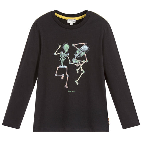 Boys Black Cotton SEMI Top