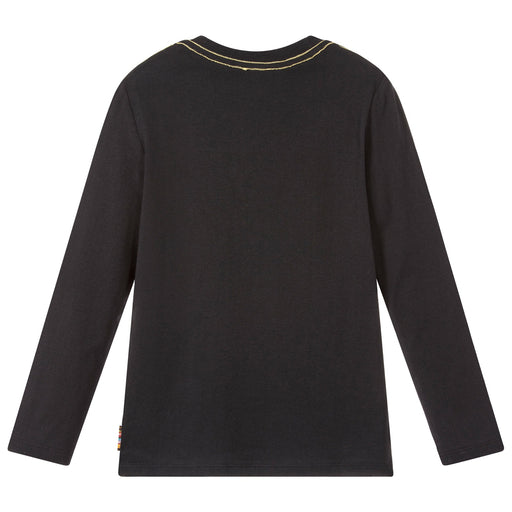 Paul Smith Boys Black Cotton SEMI Top at BOYS & GIRLS ONLINE