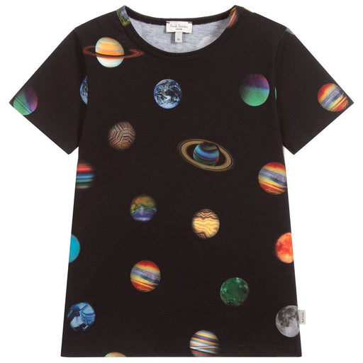 Paul Smith Boys Black Cotton T-Shirt - Kids clothes online | BOYS & GIRLS ONLINE