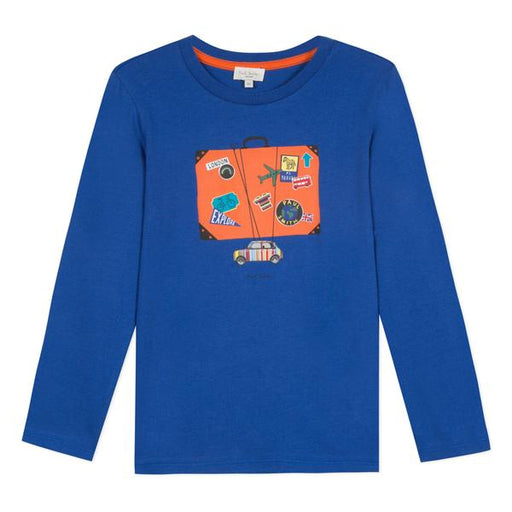 Paul Smith - Boys Blue Cotton Jersey Top - Kids clothing at BOYS & GIRLS ONLINE