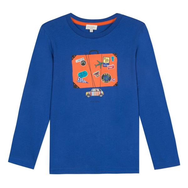 Paul Smith Boys Blue Cotton Jersey Top - Kids clothes online | BOYS & GIRLS ONLINE