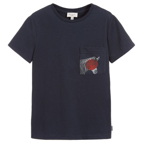 Boys Blue Cotton SUNNY T-Shirt