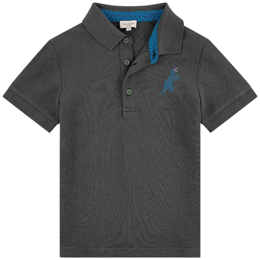 Boys Blue Cotton TANER Polo Shirt