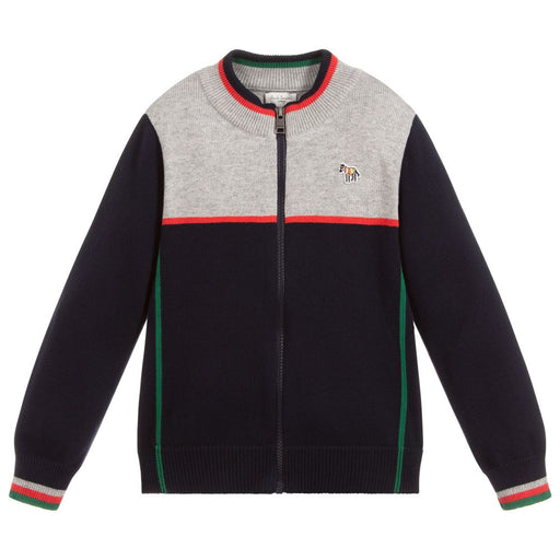 Paul Smith Boys Cotton Knitted Zip-Up Top - Kids clothes online | BOYS & GIRLS ONLINE