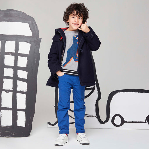 Paul Smith - Boys Grey Cotton Dino Sweatshirt - Kids clothing at BOYS & GIRLS ONLINE