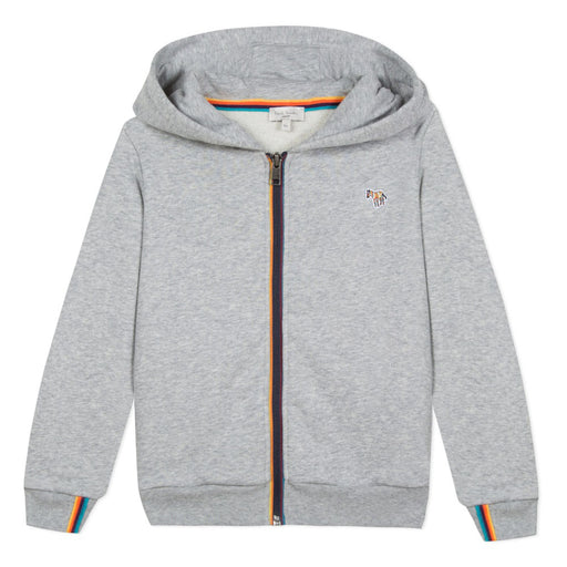 Boys Grey Hooded Cardigan