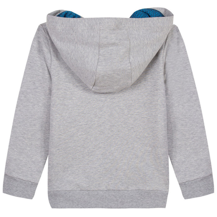 Boys Grey Zip-up Hooded Sweatshirt