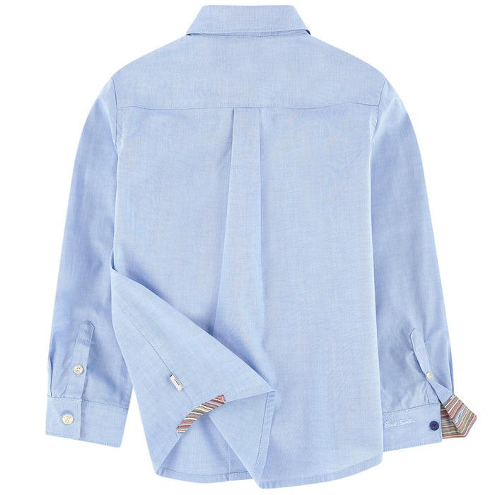 Paul Smith-Boys Light Blue Negend Shirt-boysgirlsonline.com