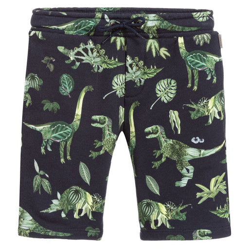 Paul Smith Junior Boys Navy Blue Bermuda Shorts with Dinosaur Print-BOYS & GIRLS ONLINE