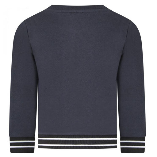 Boys Navy Blue Cotton Sweatshirt