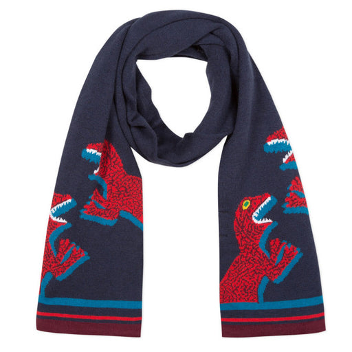 Boys Navy Blue Dino Scarf