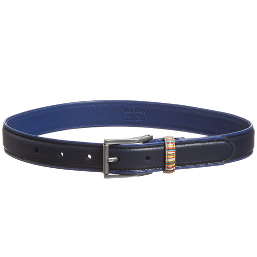 Paul Smith Junior Boys Navy Blue Leather 'Lamar' Belt 5K91502
