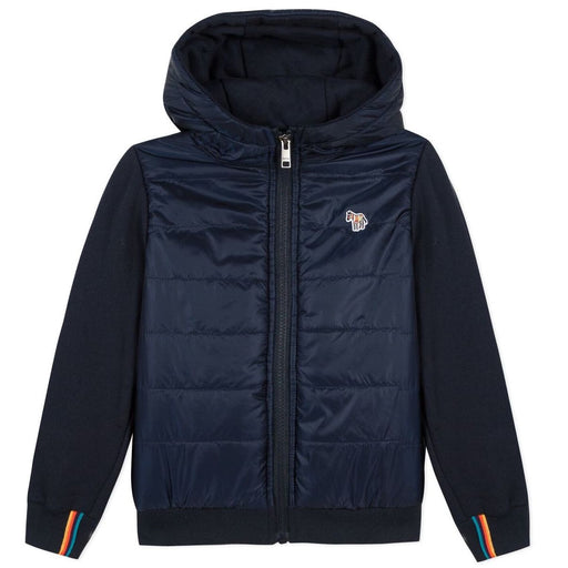 Paul Smith - Boys Navy Blue Zip-Up Hooded Top - Kids clothing at BOYS & GIRLS ONLINE