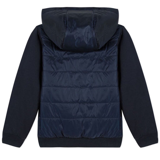 Boys Navy Blue Zip-Up Hooded Top