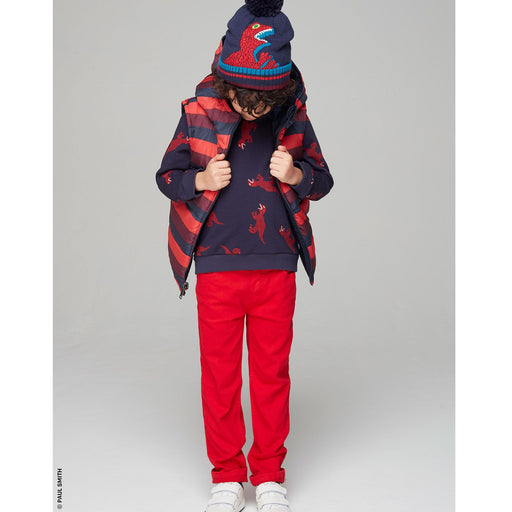 Paul Smith Boys Navy Cotton Dino Pom-Pom Hat - Kids clothes online | BOYS & GIRLS ONLINE