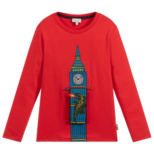 Paul Smith - Boys Red Cotton Top - Kids clothing at BOYS & GIRLS ONLINE