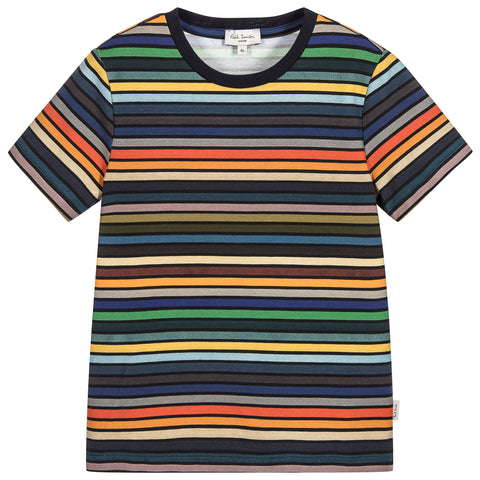 Paul Smith Junior Boys Striped Cotton Phil T-Shirt 5K10502 | BOYS & GIRLS ONLINE | Designer clothes for children