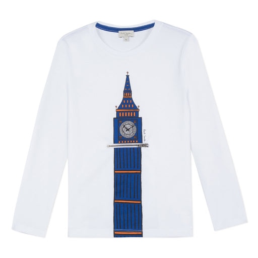Paul Smith Boys White Cotton Top - Kids clothes online | BOYS & GIRLS ONLINE