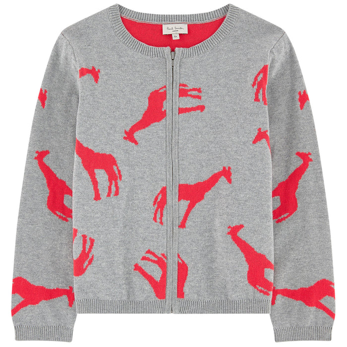 Paul Smith-Girls Grey Zip PENELOPE Cardigan-boysgirlsonline.com