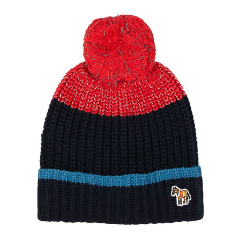 Navy Knit Pom-Pom PECKS Hat