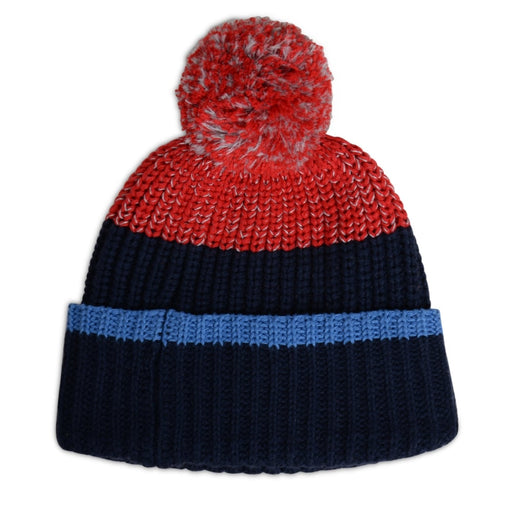 Paul Smith Navy Knit Pom-Pom PECKS Hat at BOYS & GIRLS ONLINE
