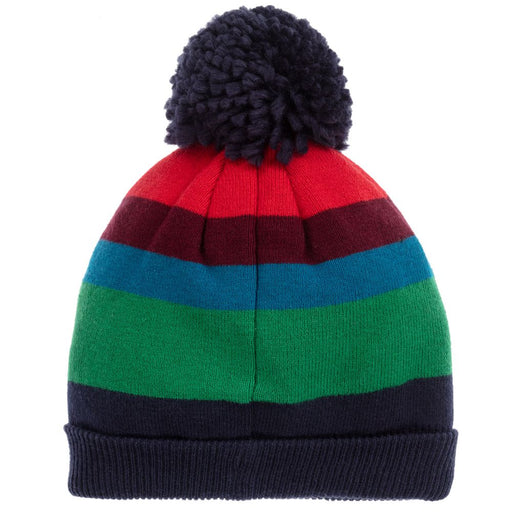 Striped Knitted Cotton Hat