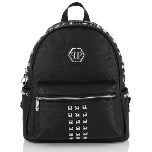 Backpack Statement with Studs and Zipper
