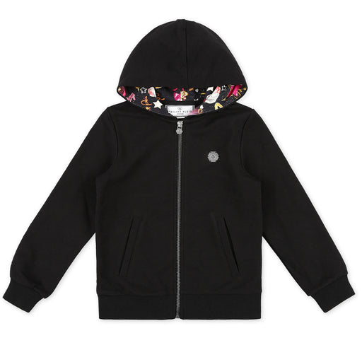 Philipp Plein Black Hoodie Sweatjacket Plein Addict - Kids clothes online | BOYS & GIRLS ONLINE