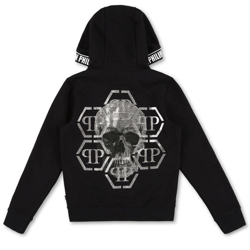 Philipp Plein Black Hoodie Sweatjacket Skull - Kids clothes online | BOYS & GIRLS ONLINE