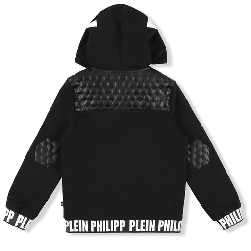Philipp Plein Black Hoodie Sweatjacket Statement - Kids clothes online | BOYS & GIRLS ONLINE