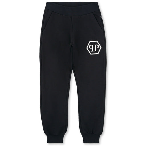 Philipp Plein - Black Jogging Trousers P.L.N. - Kids clothing at BOYS & GIRLS ONLINE