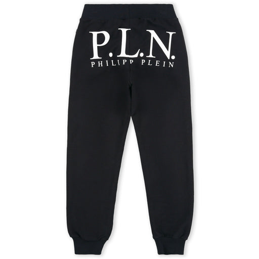 Philipp Plein Black Jogging Trousers P.L.N. - Kids clothes online | BOYS & GIRLS ONLINE