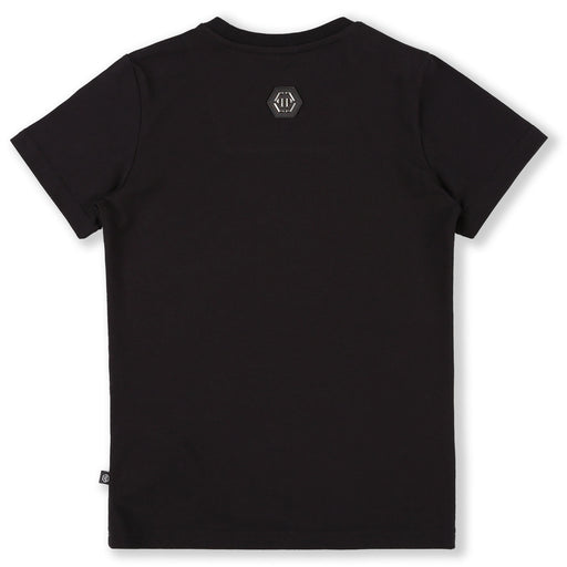 Philipp Plein Black T-shirt Round Neck SS Skull - Kids clothes online | BOYS & GIRLS ONLINE