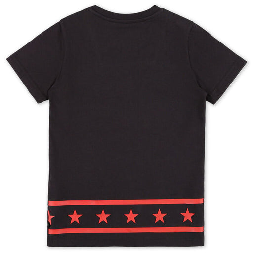 Boys Black-Red T-shirt Round Neck SS PP1978