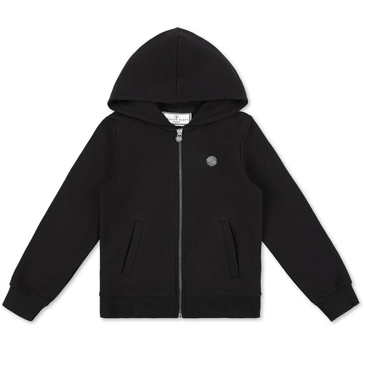 Philipp Plein Girls Black Hoodie Sweatjacket P.L.N. - Kids clothes online | BOYS & GIRLS ONLINE