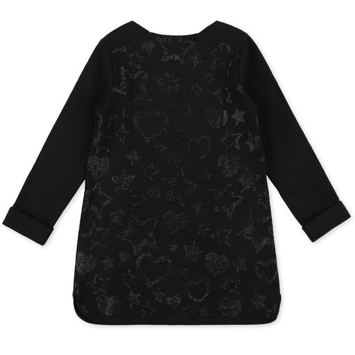 Philipp Plein - Girls Black Jogging Day Dress Signature - Kids clothing at BOYS & GIRLS ONLINE